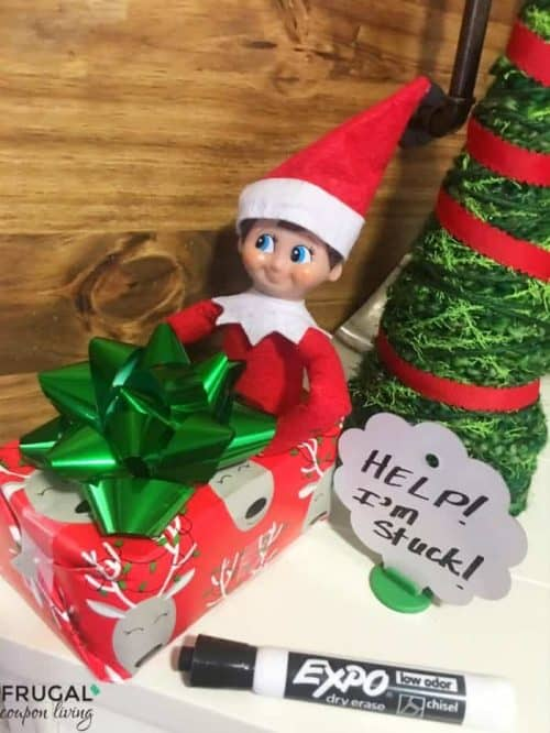 Elf on the Shelf Ideas with Boxes | Christmas Present