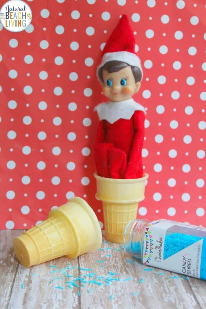 Elf on the Shelf Ice Cream Cone | Elf Preschool Ideas