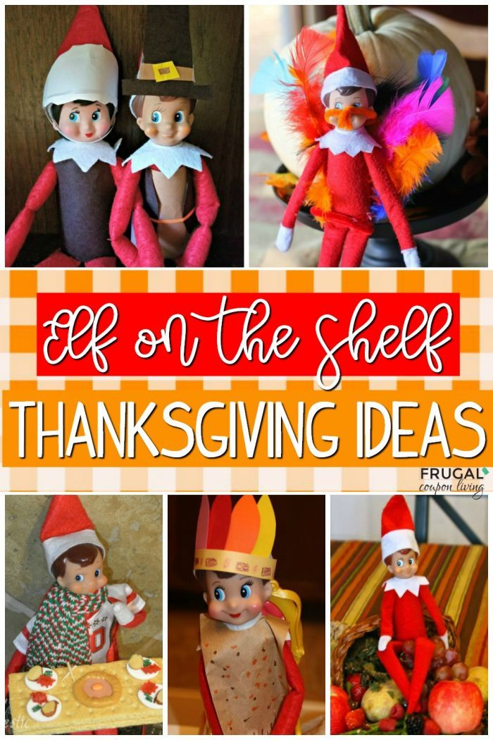Elf on the Shelf Ideas for Thanksgiving