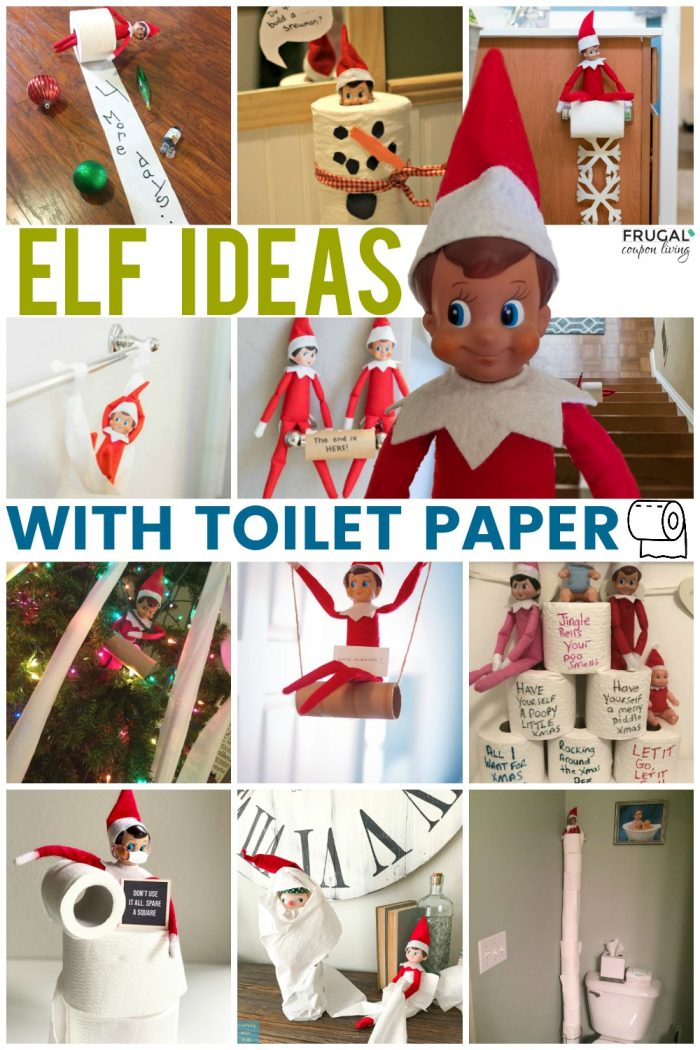 Funny Elf on the Shelf Ideas with Toilet Paper
