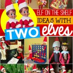 elf on the shelf ideas with two elves