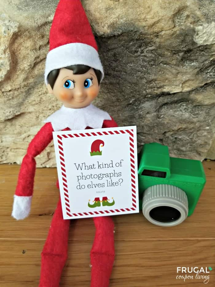 Selfie Elf on a Shelf Joke - 30 Days of New Elf Jokes Printables