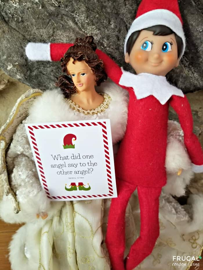 Angel Christmas Joke Printables - 30 Days of Silly Elf on the Shelf Ideas