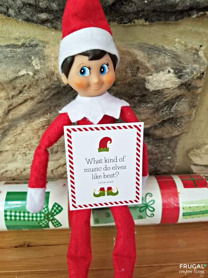 Wrap Elf a Shelf Printable Joke Card - 30 Days of Silly Elf Printables Ideas
