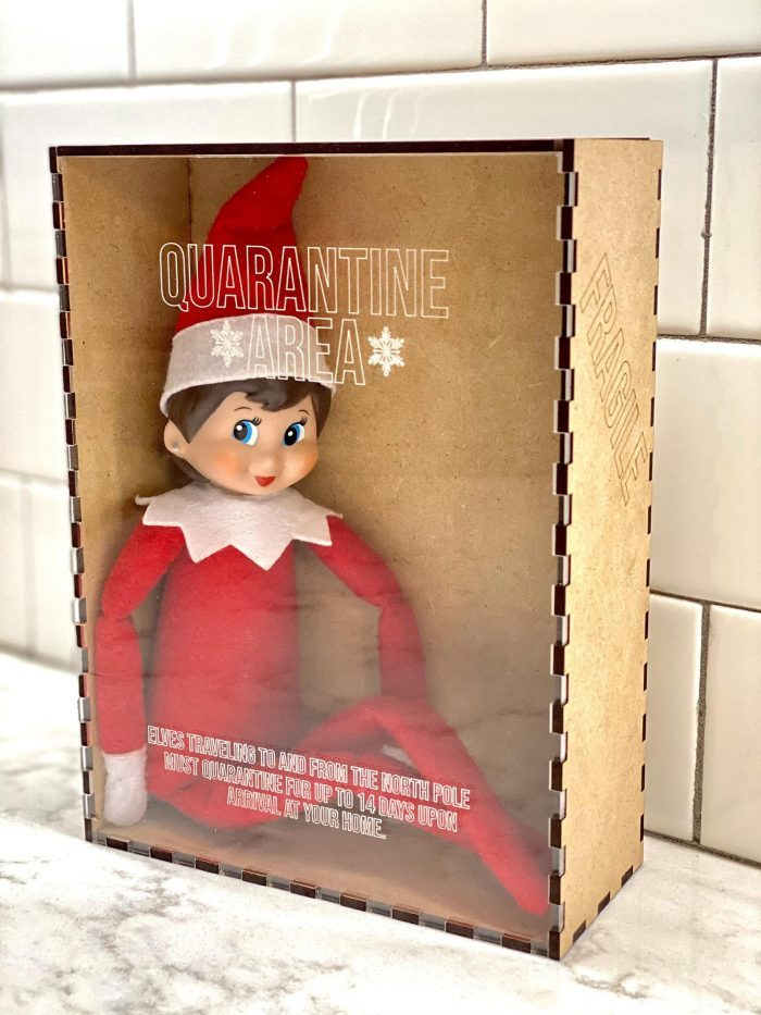 2020 Elf on the Shelf Quarantine Box & Pandemic Elf Ideas and Printables