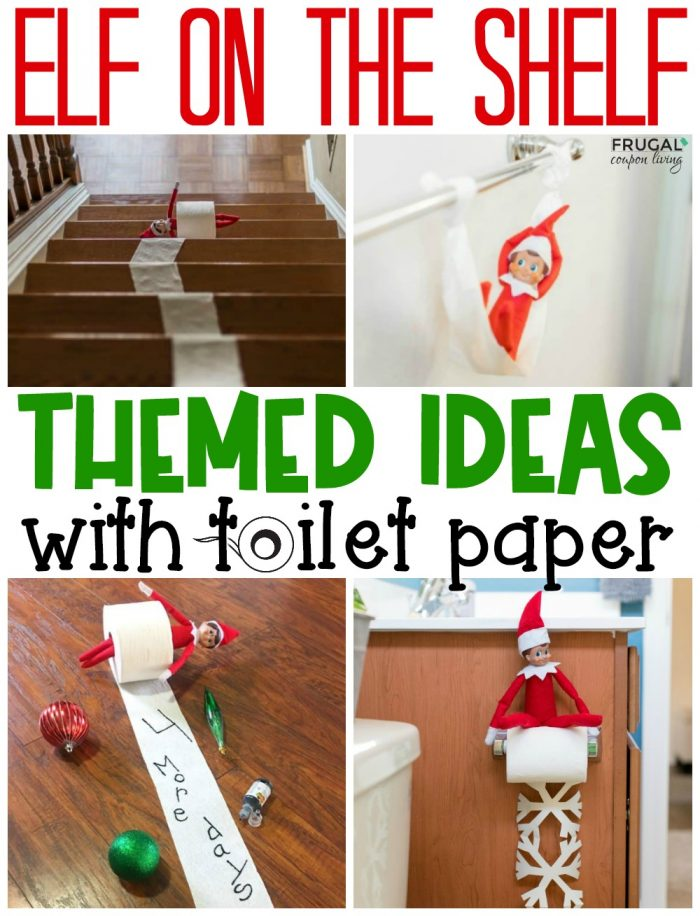 Easy Elf on the Shelf Toilet Paper Ideas