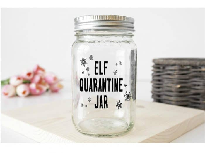 Quarantine Elf on the Shelf Jar - Digital Download Vinyl for Mason Jar