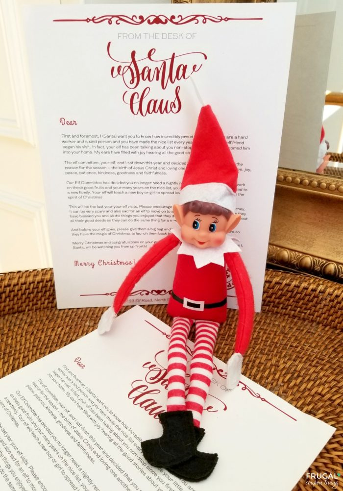 Elf Retirement Letter When You are Done with Elf on the Shelf