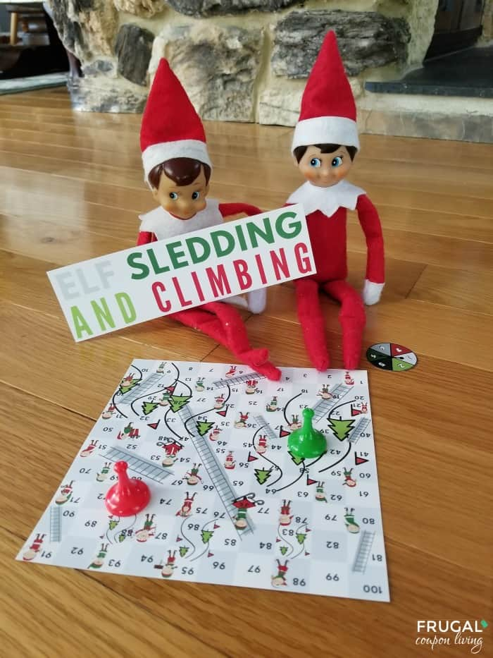 Elf on the Shelf Sledding & Climbing Chutes & Ladders Board