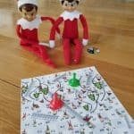 Elf on the Shelf Sledding and Climbing Chutes and Ladders Game Board Printable