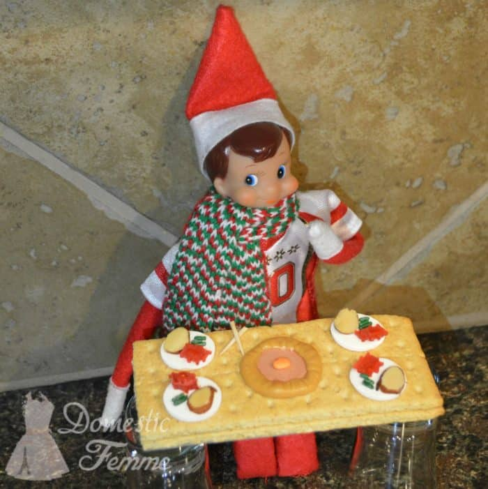 Elf on a Shelf Thanksgiving Ideas | Mini Thanksgiving Feast