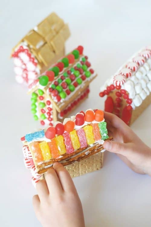 Ginger Bread House Template and Hot Glue Gun Hack