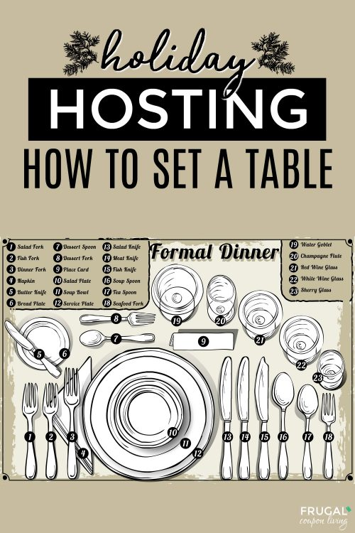 how to set a formal place setting & formal place setting image
