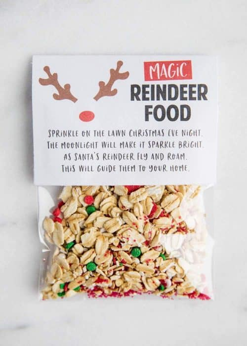 Magic Reindeer Food Printable & Recipe
