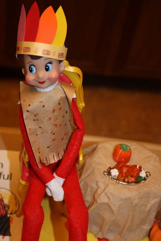 Elf on the Shelf Indian Native American Costume & Thanksgiving Ideas