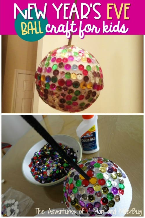 New Year's Eve Ball Craft for Kids