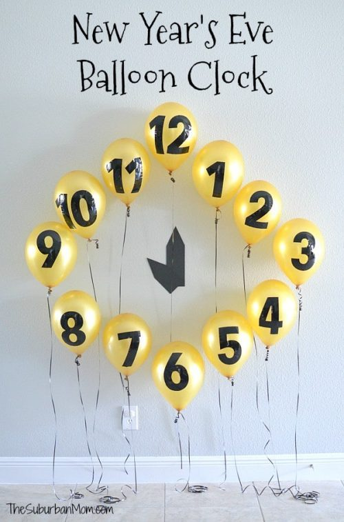 How to Make a New Year's Eve Balloon Clock Countdown