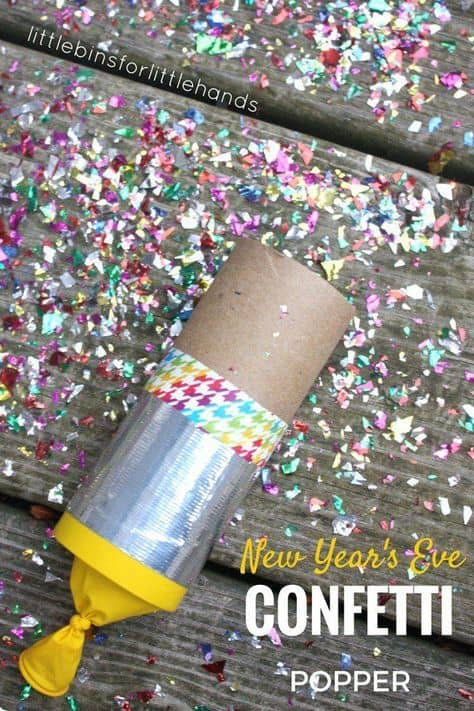 DIY New Year's Eve Confetti Poppers Craft