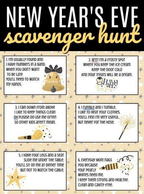 New Year's Eve Scavenger Hunt for Kids & New Year's Eve Ideas for Kids