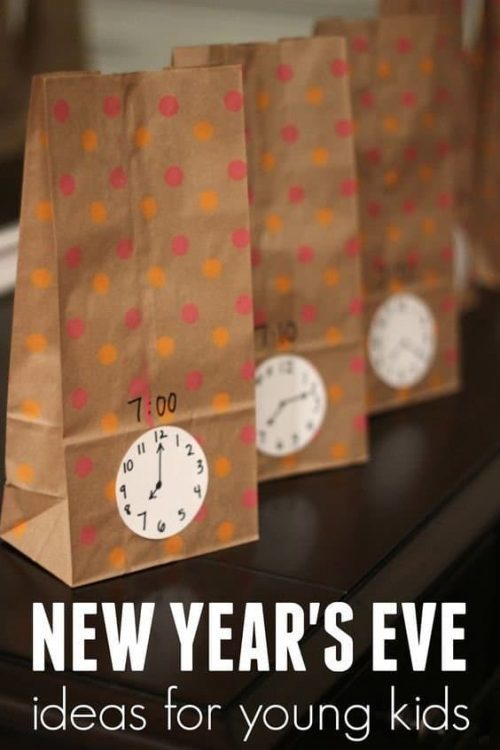 New Year's Eve Countdown Bags & Party Activities for Kids