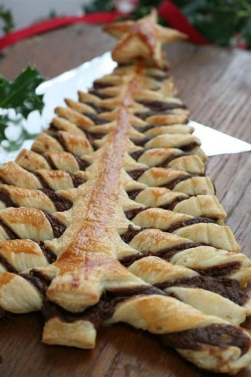 Nutella Pastry Christmas Tree Party Appetizer