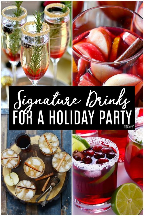 winter signature drinks for a holiday party