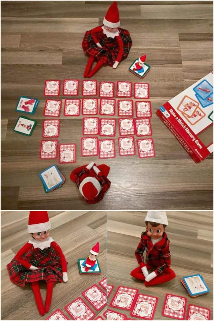 Two Elf Ideas - Elf on the Shelf Memory Game Night