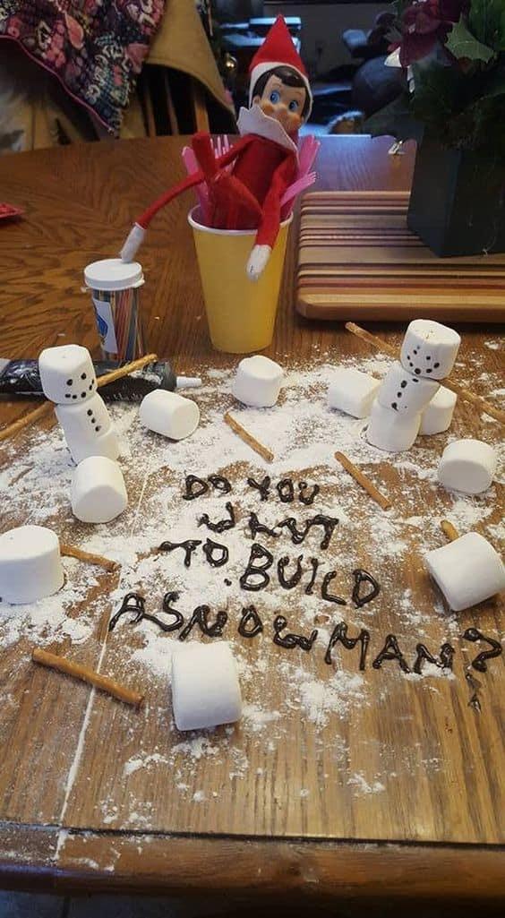 Elf on the Shelf Do You Wanna Build a Snowman with Marshmallows