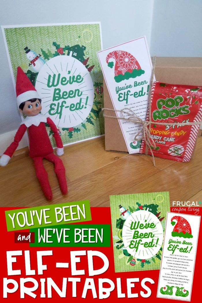 Printable Youve Been Elfed on the Shelf Christmas Tradition for Neighbors
