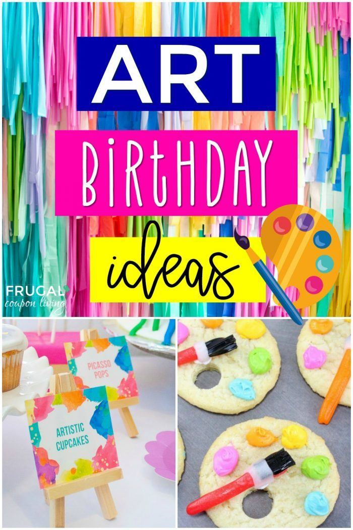 Art Birthday Party Theme Ideas