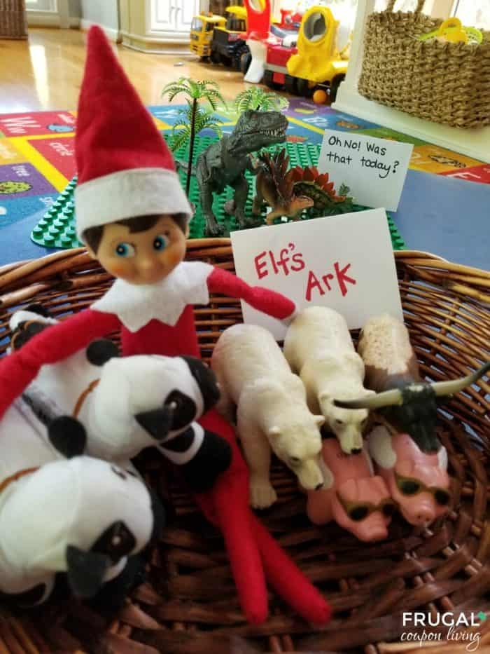 Funny Elf on a Shelf Joke - Noah's Ark with Left Behind Dinosaurs