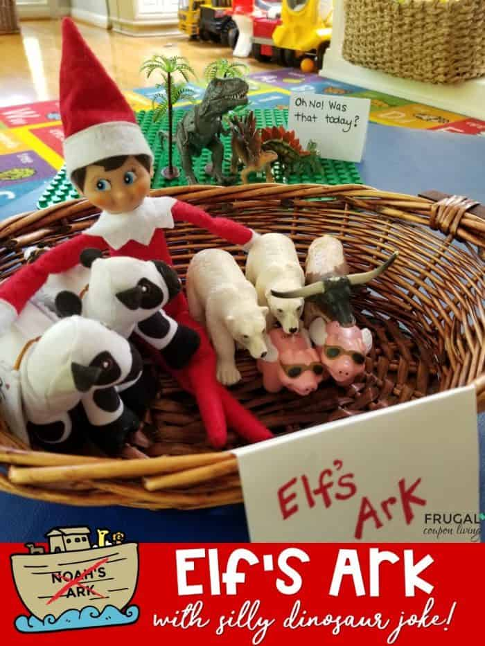 Elf on the Shelf Joke - Noah's Ark with Dinosaur Pun
