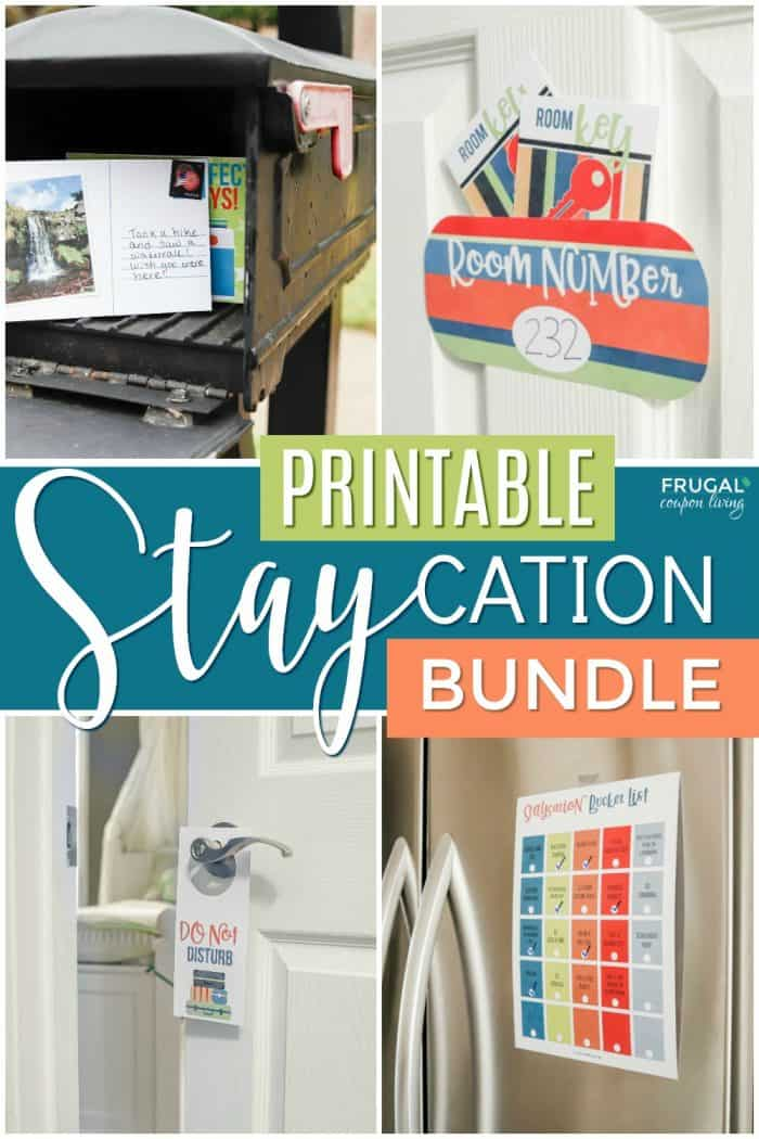 Fun Ideas for a Staycation at Home | Stay at Home Printable PDF