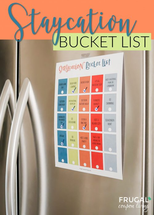 Staycation Family Bucket List