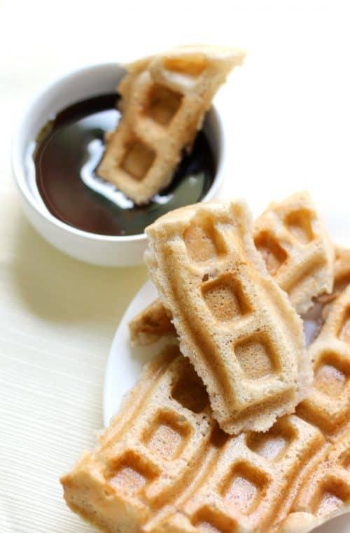 Applesauce Waffles for a Healthy Breakfast Idea + Simple Breakfast Menu