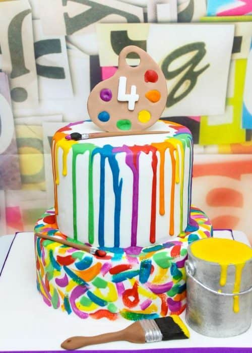 Art Party Ideas for Kids | Art Birthday Cake
