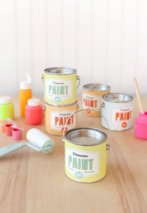 Paint Can Art Party Favors with Free Printable
