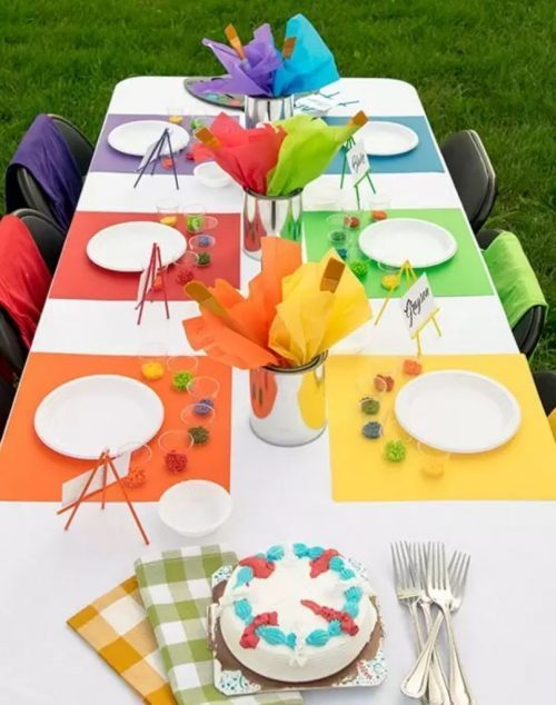 Art Birthday Party Ideas | Artist Table Decor