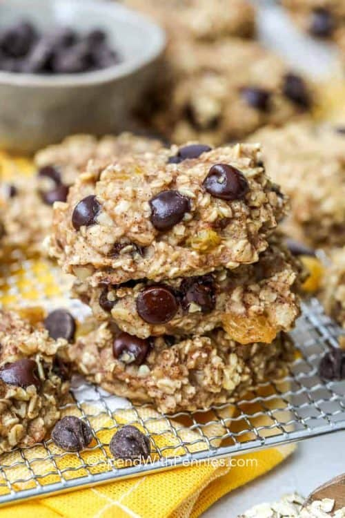 The Best Breakfast Cookie - Banana Chocolate Chip Cookie and Simple Breakfast Items