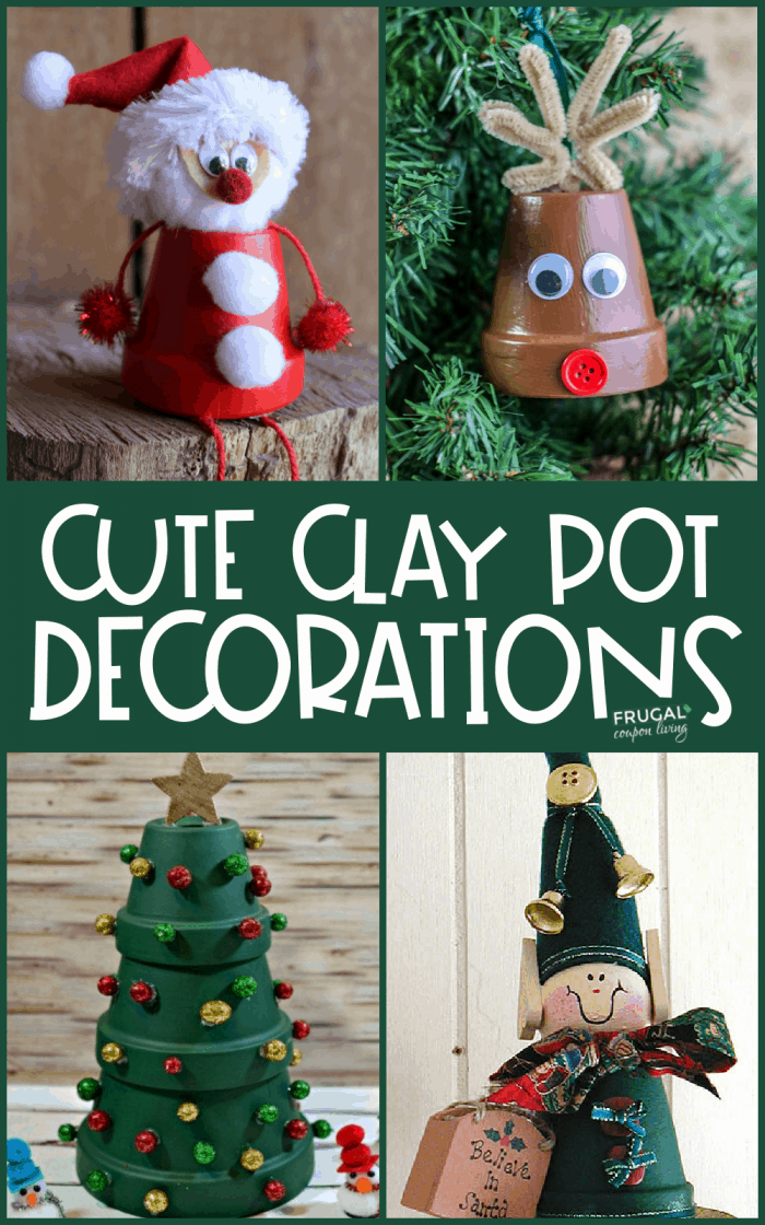 Cute Clay Pot Decoration Ideas for Christmas