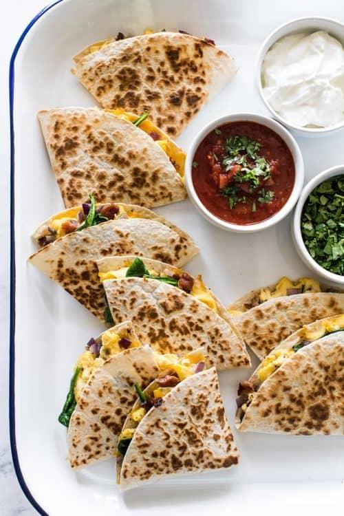 Easy Breakfast Quesadillas + Healthy and Simple Breakfast ideas