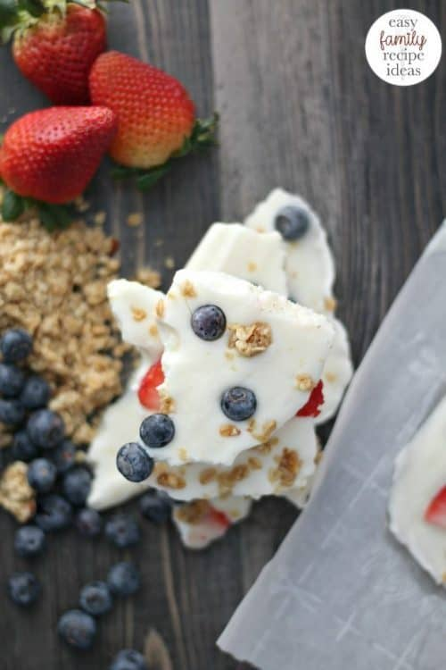 Easy Breakfast Items | Quick Yogurt Bark Recipe for Kids & Adults