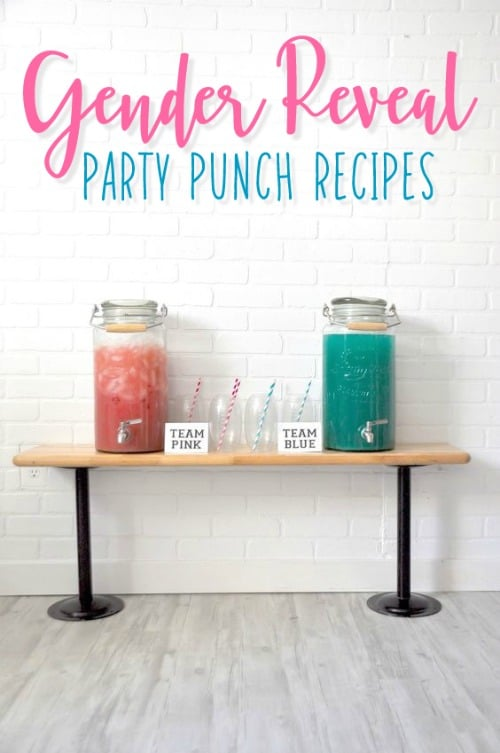 Gender Reveal Food and Party Punch Recipes