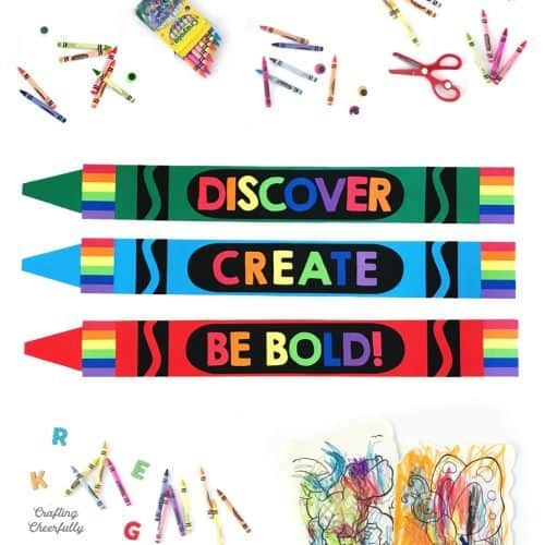 Art Birthday Party Ideas | Giant Paper Crayons Craft