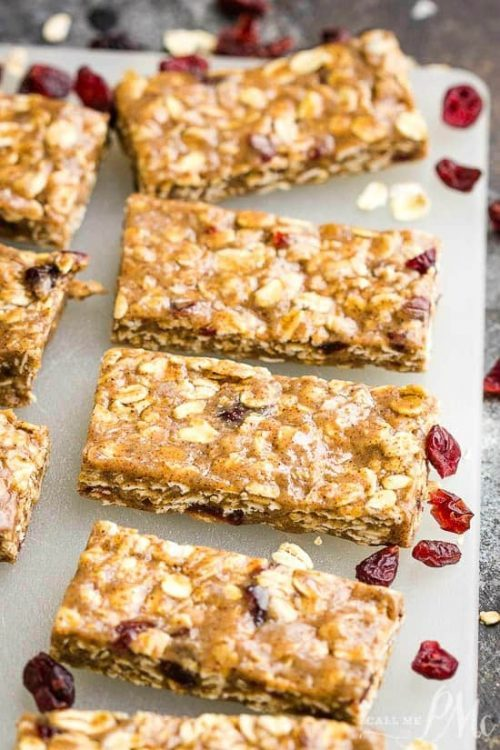 No-Bake Almond Butter Protein Bars
