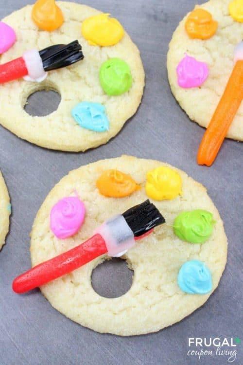 Artist Paint Palette Cookies