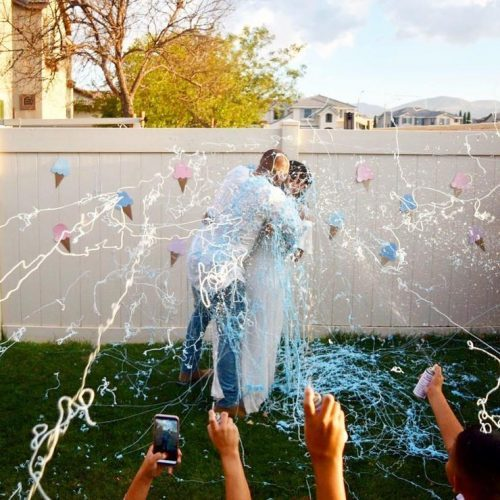 Gender Reveal Party Idea | Silly String the Parents