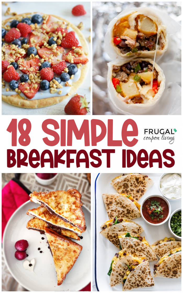Easy Breakfast Items | Quick & Simple Breakfast Ideas and Recipes for Adults and Kids