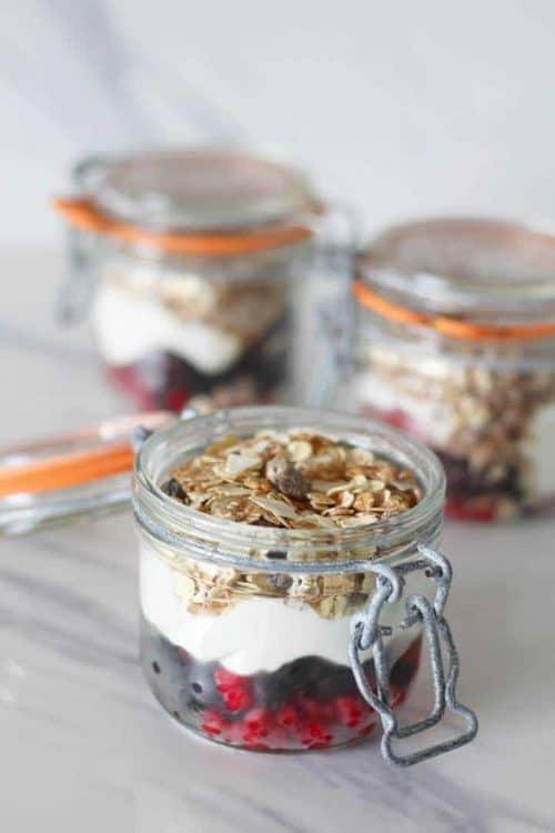 Healthy Yogurt Fruit Pots & Easy Simple Breakfast Menu Ideas