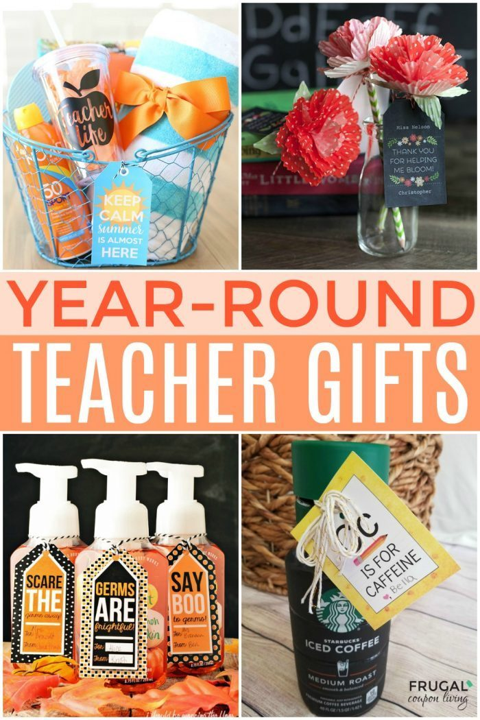 Year-Round DIY Teacher Gifts - Teacher Appreciation Gifts Ideas